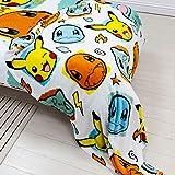 Character World Pokemon Rocks Fleece Blanket 100cm x 150cm, White, Blue, Yellow