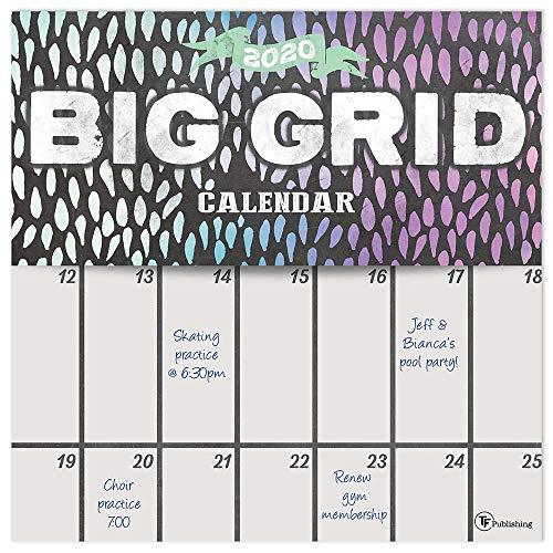 2020 Big Grid - Chalk Planning Wall Calendar