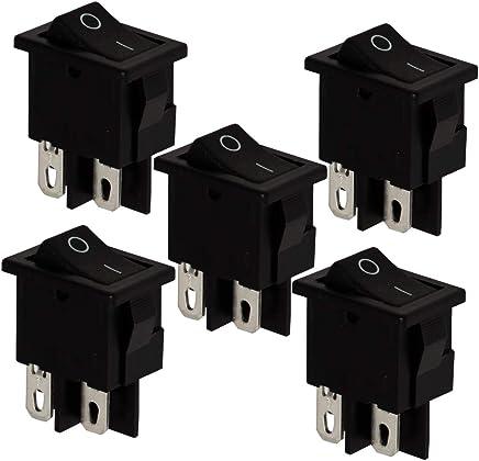 AERZETIX Interruptor conmutador de palanca DPDT ON-ON 3A//250V 2 posiciones C10777