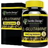 L-Glutamine - 1000mg Glutamine - Acide Aminé L-Glutamine - Pour Hommes et Femmes - Convient aux Végétariens - 90 Comprimés (3 Mois d'Approvisionnement) de Earths Design