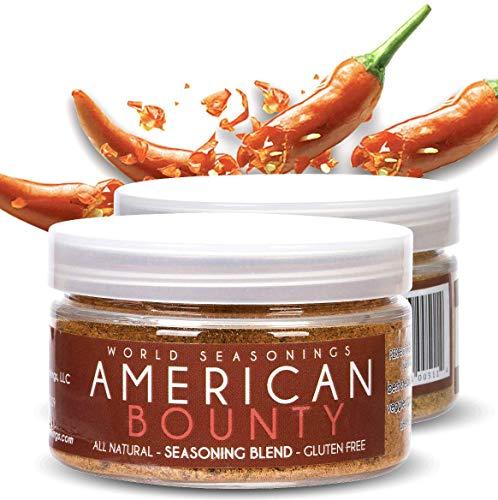 Herbs Seasoning - BBQ Seasoning - Southwest Seasoning - Steak Marinade - Steak Rub - Lamb Chops - Fish Seasoning - Smoker Spices And Rubs - Ground Beef Seasoning - World Seasonings - AMERICAN BOUNTY