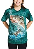 The Mountain Bass Adult T-Shirt, Blue and Green, XL