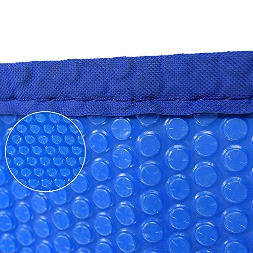 Solarabdeckplane Rechteckige Solardecke for Aufstellpool, Pool-Solarabdeckung, Mit Ösen Abgeklebt, 16mil, Blau (Size : 2.5×7m)