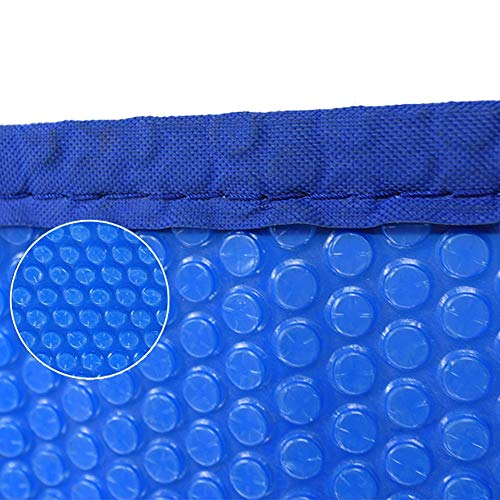 Solarabdeckplane Rechteckige Solardecke for Aufstellpool, Pool-Solarabdeckung, Mit Ösen Abgeklebt, 16mil, Blau (Size : 3×6m)