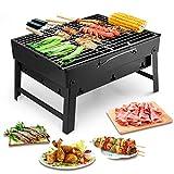 Uten Barbecue Carbone Portatile, Grill Barbecue Carbone Griglia Barbecue per 3-5 Persone...