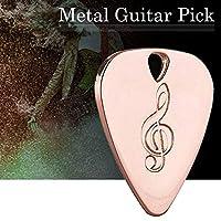 Jarhit 1枚金属ギターピック0.38mm薄い丈夫なシルバーカラープロフェッショナルベースウクレレギターピックローズゴールド