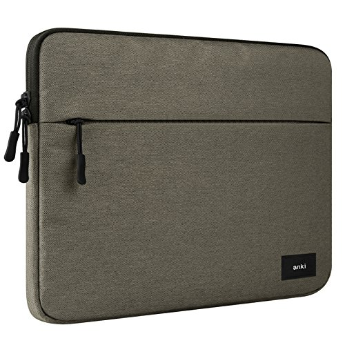 ERUMID Laptop Sleeve, 12 Inch Computer Bag, 13 Inch Laptop Case Bag, 15 Inch MacBook/Dell/HP/Microsoft Laptop Bag (13'-13.3', Coffee)
