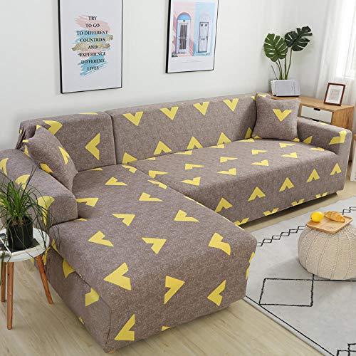 SDFWEWQ Elastischer Sofabezug 1 2 3 4 Sitzer Weich Farbecht Anti Rutsch Mode Beliebt Klassisch Muster Universal Sofabezüge Wohnzimmer Möbelschutz Couch Schonbezug (3 Sitzer 190-230 cm,Braun)