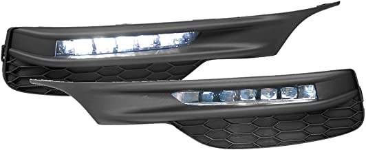 Lights Compatible With 2016-2017 Honda Accord |Sedan Factory Style LED Fog Light Lamp Kit w/Switch & Relay Pairs by IKON MOTORSPORTS