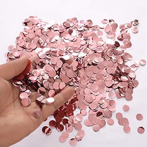 Egurs 500 Grams Confetti Ronde Rose Goud Metaalfolie Pailletten Tafel Confetti voor Ballon Bruiloft Verjaardag Party Decoratie 1#