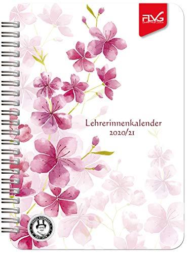 A5 Lehrerinnenkalender FLVG Verlag 2020/2021 Lehrer Kalender A5 Blume rot