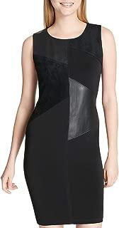 Women's Sleeveless Dress w/Faux Leather & Suede