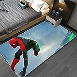 CYSGJ Tapis d'impression 3D Spiderman De Bande Dessinée, Tapis De Jouet Rampant pour Bébé De Chambre d'enfants, Tapis De Table Basse De Salon 120x160cm