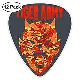 Fashion Tiger Army Picks de guitarra (paquete de 12) para guitarra eléctrica, guitarra acústica, mandolina y bajo de guitarra