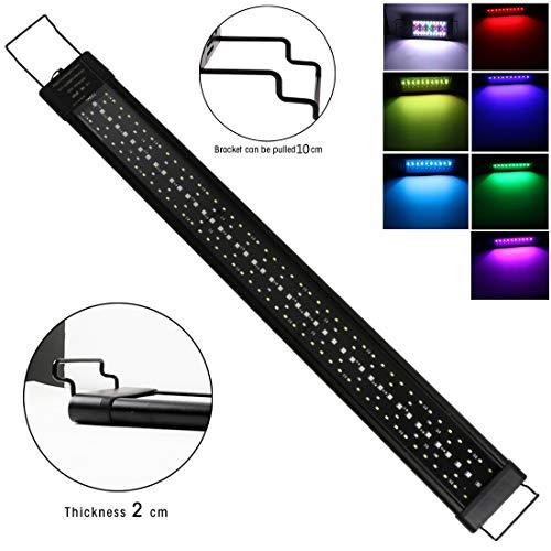 LED Aquarium Light 60W 120cm Tauch-RGB-Mehrfarben Leuchten mit Zeitmessgerät und Einstellbare Halterung für 120cm-135cm Aquarium LED Beleuchtung Lampe für Süßwasser, Aquarium, Pflanze, Marine