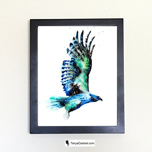 Hawk Spirit Animal Art Print from Watercolor Painting