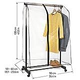 Tatkraft SMART COVER - Cubierta transparente para carril de ropas, con...