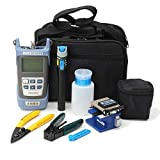 Fencia FC-6S FTTH Optic Kit Assembly Termination Tool w/FC-6S Fiber Cleaver & Optical Power Meter Finder 5km & Visual Fault Locator 1mw, black