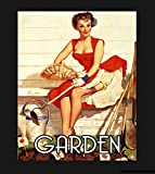 Vintage Pin Up Garden Metal Sign, Pin Up Sign, Vintage Sign Aluminum Plaques Signs Tin Plaques Wall ...