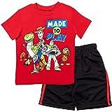 Disney Pixar Toy Story Toddler Boys Short Sleeve T-Shirt & Shorts Set Red/Black 2T
