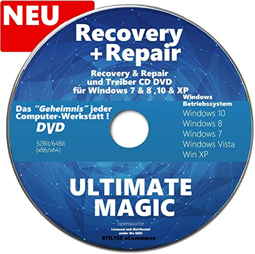 Recovery & Repair CD/DVD für Windows 10, 8, 7, XP - Für HP, Lenovo, Samsung ✔ Computer Reparatur