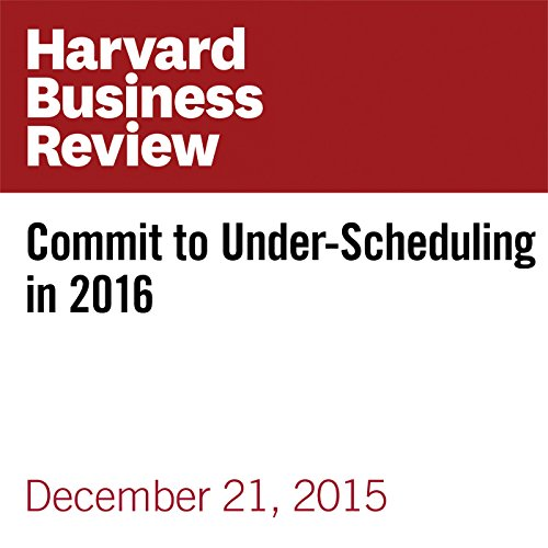 Commit to Under-Scheduling in 2016 copertina