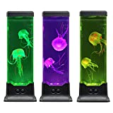 Electric Fantasy Jellyfish Lava Lamp with Color Changing Light Effects-Jelly Fish Tank Aquarium Night Mood Light for Decoration Perfect Gift for Kids Men Women