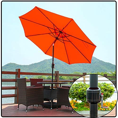 Parasol 300CM Gartenschirm Sonnenschirm Freien für Patio/Strand/Pool Regenschirme mit Kurbel- und Neige Funktion Sonnenschutz (rot) CMXZ