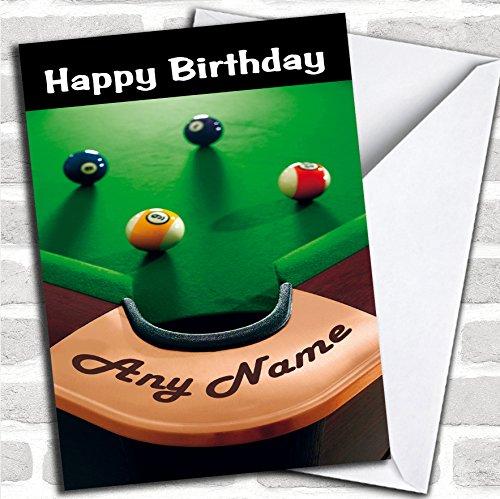 Pool Snooker Tafel Grappige Verjaardagskaart Met Envelop, Kan Volledig Gepersonaliseerd, Verzonden Snel & Gratis