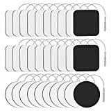 30Pcs TENS Unit Replacement Pads,Reusable stim Electrode Pads EMS with Upgraded Self-Stick Performance and Non-Irritating Square 2'x2' 20Pcs Round 2'x2'10Pcs(Standard 2mm Connector)