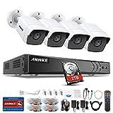 ANNKE Kit de Vigilancia CCTV 8CH 4K Ultra HD DVR con 2TB Disco Duro de Videovigilancia + 4Pcs 5MP Cámaras Sistema de Seguridad IP67 Impermeable LED EXIR IR de Visión Nocturna - 2TB HDD