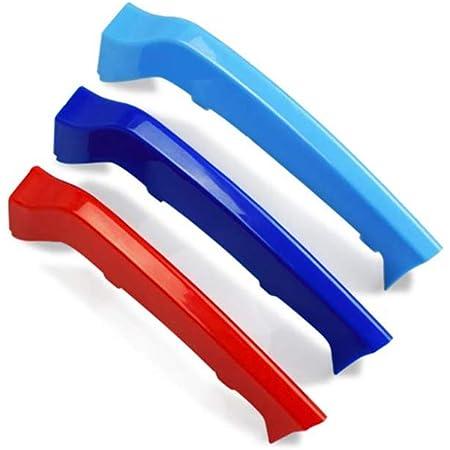 Clip di Grille del Rene M Colore Adesivi per Griglia Anteriore Grill Inserire Copertine Per 4 Series F32 F33 2014-2018 3 Pezzi 9 Rod
