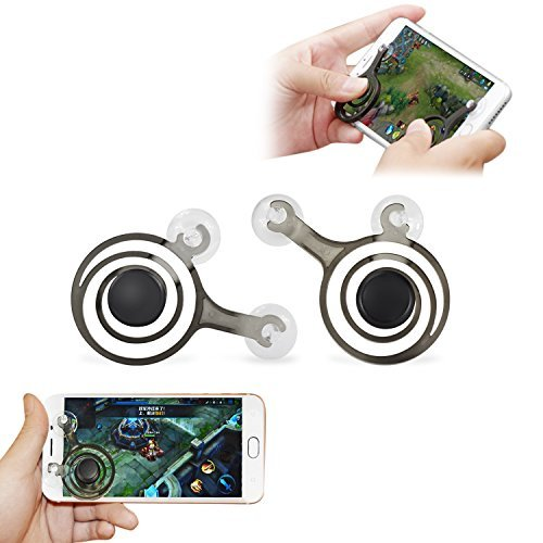 QUWEI Mobile Game Joystick Phone Game Rocker Touch Screen Joypad Tablet Funny Game Controller For Phone or Pad (left+right)