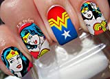 Wonder Woman Water Nail Art Transfers Stickers Decals - Set of 22