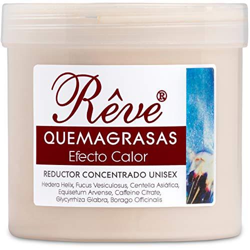 REVE Quemagrasas Efecto Calor - Gel de crema reafirmante adelgazante anticelulítica potente reductora de abdomen, caderas y glúteos para hombre y mujer de 500 ml.