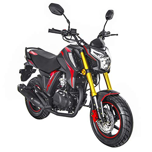 150cc Gas Motorcycle Adult Motorcycle Moped Scooter Lifan KP Mini 150 Street Motorcycle Bike Assembled(Black/Red)