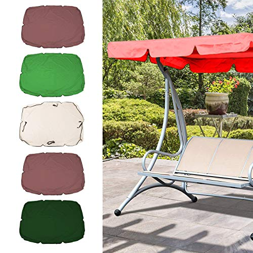 Bedler Swing Canopy Cover Bench Top Replacement Sun Shade Cover Waterproof Swing Canopy Cover Decor for Outdoor Garden Patio Yard Park Porch Seat Furniture Swing Canopy Cover