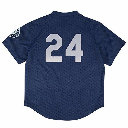 Mitchell & Ness Ken Griffey Jr. Blue Seattle Mariners Authentic Mesh Batting Practice Jersey XX-Large (56)
