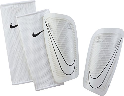 Nike Mercurial Lite Soccer Shin Guards (Small) White, Black