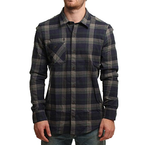 Volcom Herren Hemd Pablo II Long Sleeve, Vineyard Green, XS