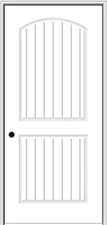 National Door Company ZZ364251R Solid Core, Primed, Molded Planked 2-Panel, Right Hand, Prehung Interior Door, 32