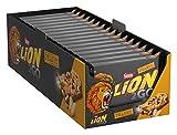 Nestlé LION 2GO Peanut, Schokoriegel mit Erdnüssen, Cranberries & Rosinen, bissiger Knusperreis, Karamell, das besondere Beißerlebnis to go, 16er Pack (à 4 x 33g)