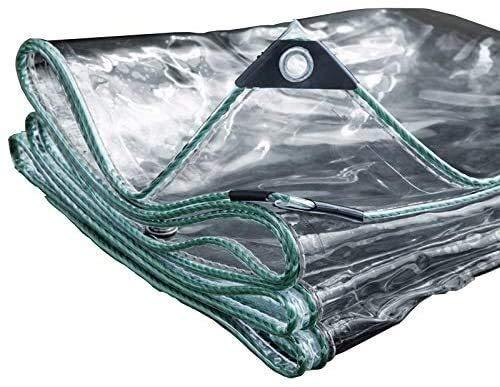 Lona Lona Impermeable Transparente de Alta Resistencia Techo Protector de Lluvia for Acampar Remolque Tienda de campaña con Ojales y los Bordes Reforzados, 350 g/m² (Size : 2X2.5m)