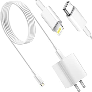 iPhone 13 12 Fast Charger,[Apple MFi Certified] Kit 20W PD USB C Wall Charger Adaptor with 6FT C to Lightning Cable Compatible with iPhone 13 12/12 Mini/12 Pro Max/11 Pro Max/XS Max/XS/XR/X/8Plus,iPad