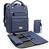 Pomelo Best Baby Wickelrucksack Wickeltasche inkl. Wickelzubehör von allen wichtigen Wickelutensilien für Unterwegs (Blau)