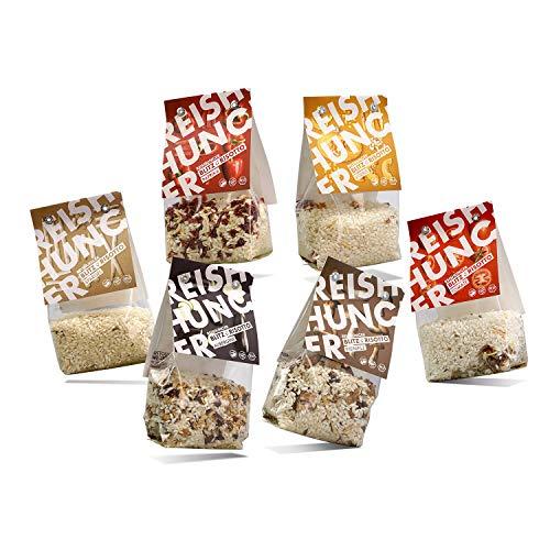 Reishunger BIO Blitz-Risotto Fertigmischungen im Set - 6 verschiedene Sorten (6 x 250g) - Glutenfrei - Auch als 3er und 9er Set verfügbar