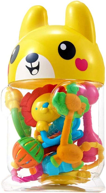 las mejores marcas venden barato Jiamuxiangsi- Juguetes - Juguetes para bebés bebés bebés Alivio del Bosque Dientes de bebé cocidos Mano Bells Molar Sticks Bite Music 0-3 Months Puzzle - Dos -Juegos Inteligentes (Color   A)  ordenar ahora