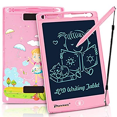 """PROGRACE LCD Writing Tablet for Kids Learning Writing Board Magnetic Erase LCD Writing Pad Smart Doodle Drawing Board for Home School Office Portable Electronic Digital Handwriting Pad 8.5"""" from PROGRACE"""
