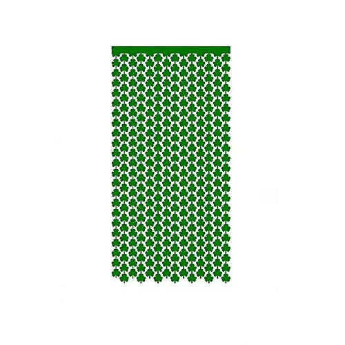 Moent 1x2M St. Patrick's Day Door Curtain,Irish Holiday Home Decorative Green Shamrock Clover Lucky Door Curtain,Festival Party Ornaments