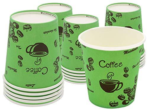 Exxens 80 vasos biodegradables de papel de colores verde ecológicos biológicos compostables...